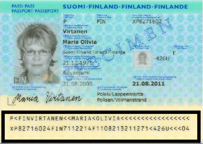 ESTA first names in the passport