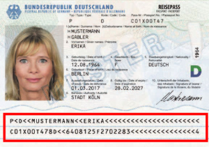 image machine readable zone of passport